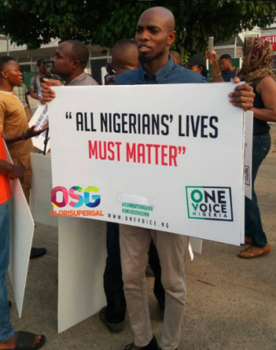 One Voice Nigeria Protest
