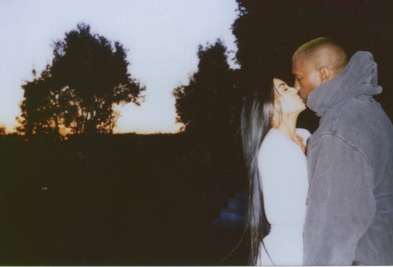 Kim Kardashian Shares Rare Kissing Snap With Kanye (Photo)