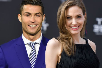Cristiano Ronaldo with Angelina Jolie
