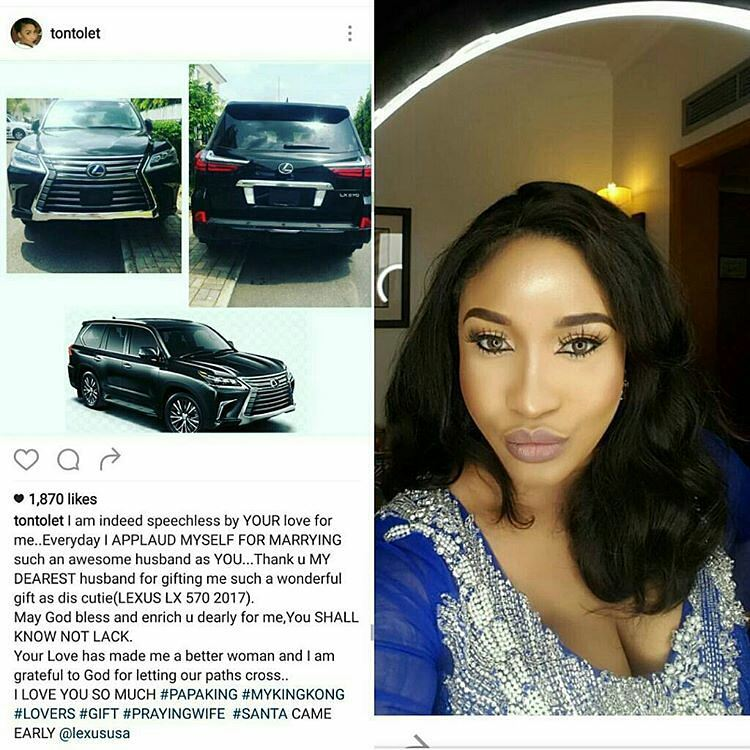 Tonto Dikeh Says Expensive Wedding Gifts You Saw On social Media Were All Lies
