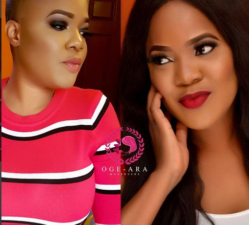 Toyin abraham bald look