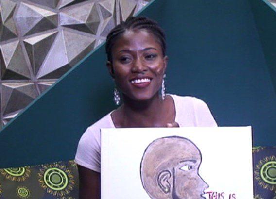Debbie-Rise painting of Biggie's look