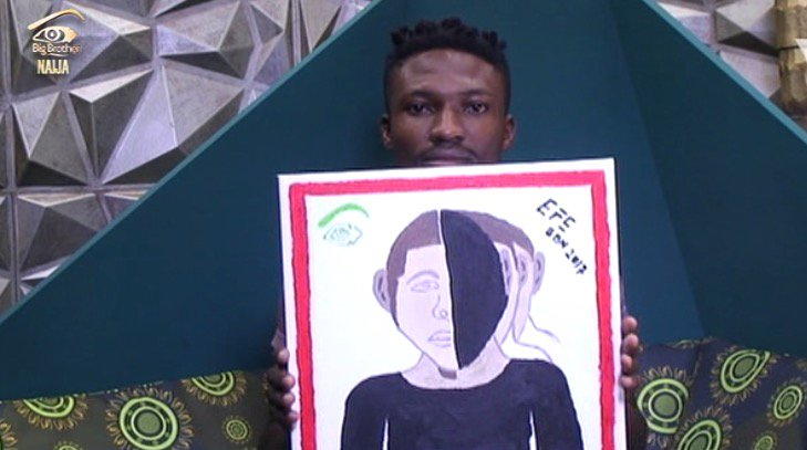Efe painting of Biggie's look
