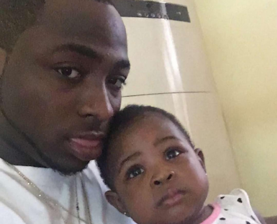 Davido and his daughter Imade