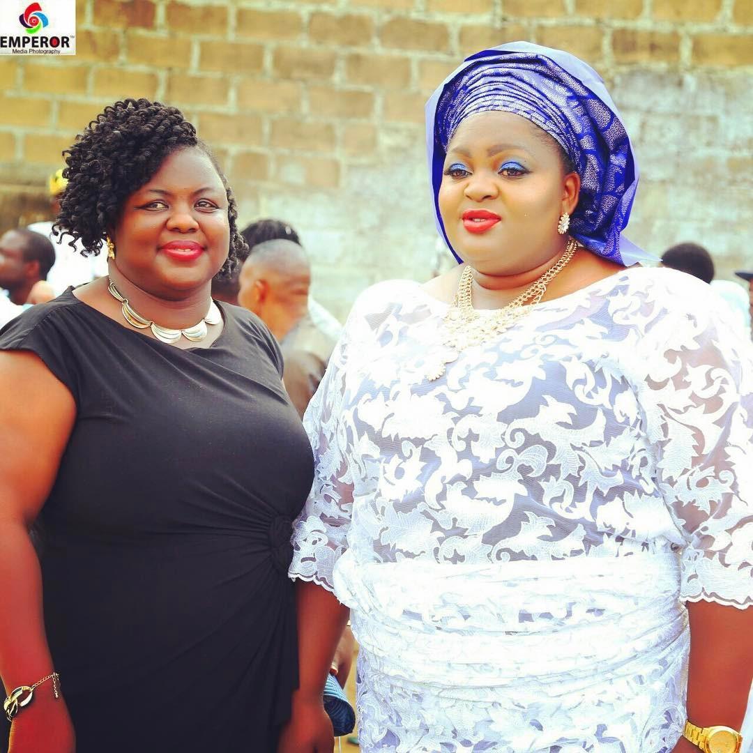 Eniola Badmus with Bola Aduwo