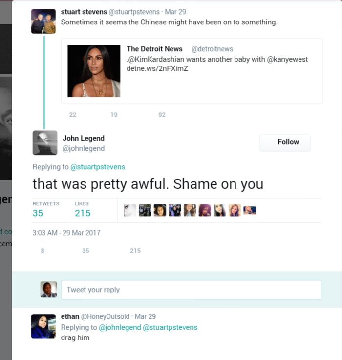 John Legend Defends Kim Kardashian Against Twitter Troll