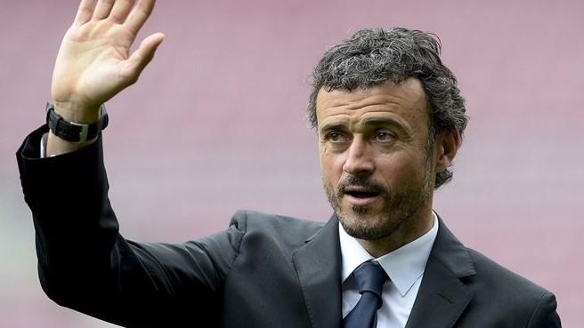 Barca coach, Luis Enrique