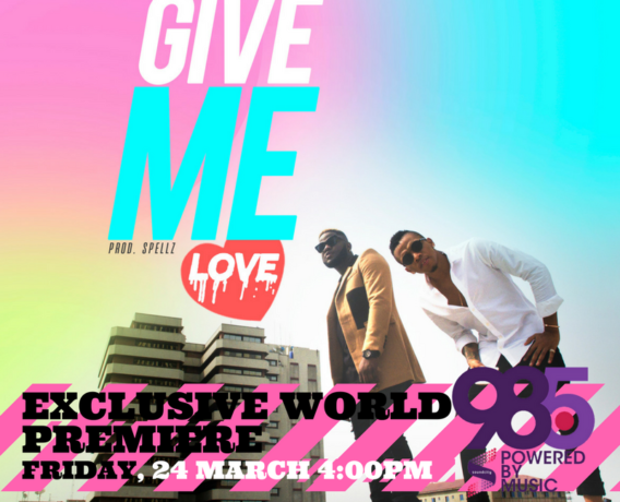 """Skales Feat. Tekno - """"Give Me Love"""" art cover"""