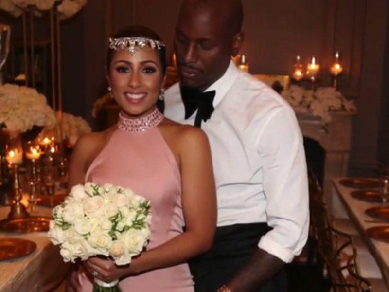 Tyrese Gisbon and wife
