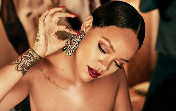 Rihanna with her Chopard collection