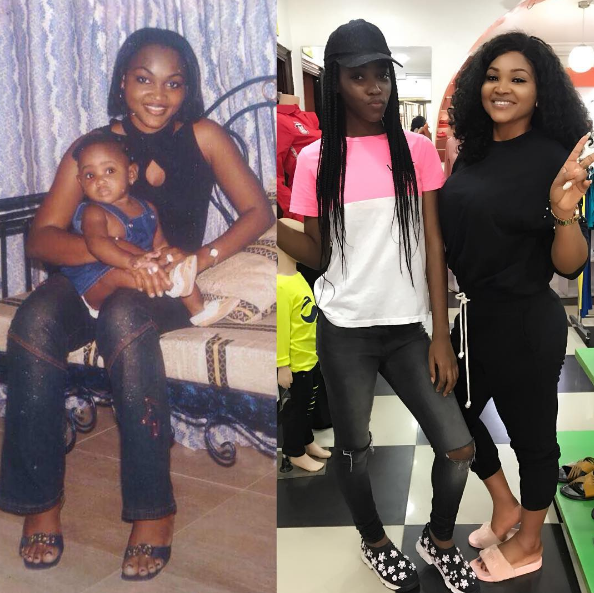 Mercy Aigbe and daughter Michelle