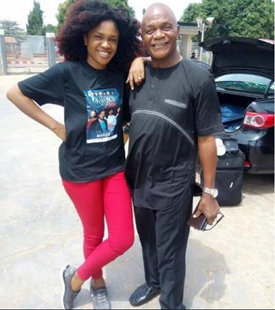 Omoni Oboli and Dad