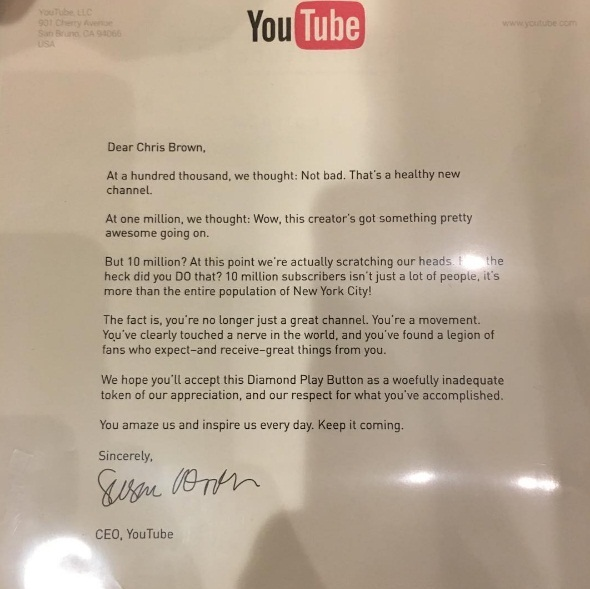 youtube letter to chris brown