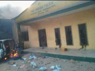 Ariaria Police Station burnt down - olorisupergal