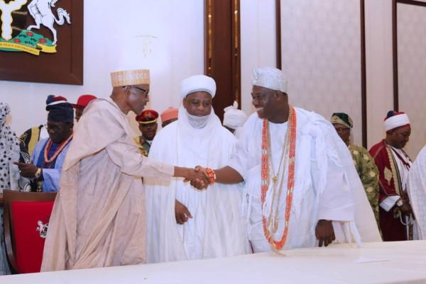 Buhari meeting with Traditional Rulers - OLORISUPERGAL