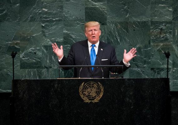 Donald Trump at UN General Assembly - OLORISUPERGAL