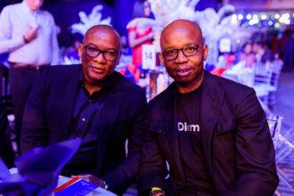 GMD, Interswitch, Mitchell Elegbe and CEO, Diamond Bank, Uzoma Dozie