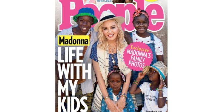 Madonna and her kids - OLORISUPERGAL