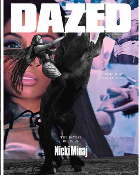 Nicki Minaj on Dazed Magazine cover - OLORISUPERGAL