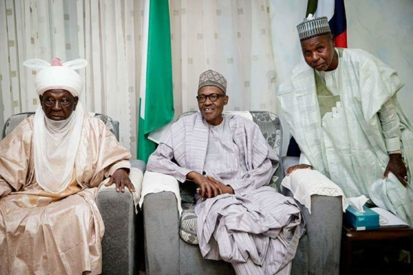 President Buhari and Kastina Governor - OLORISUPERGAL