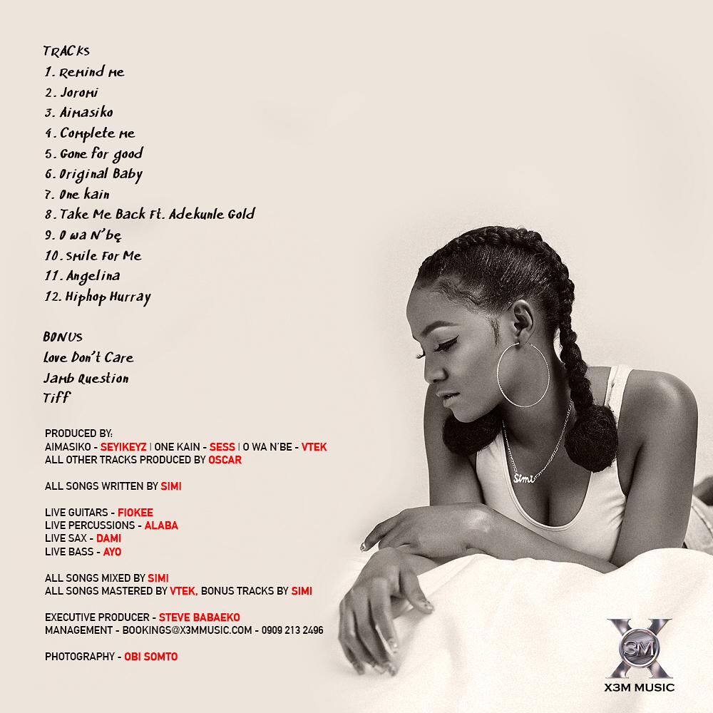 Simi Album Tracklist - OLORISUPERGAL