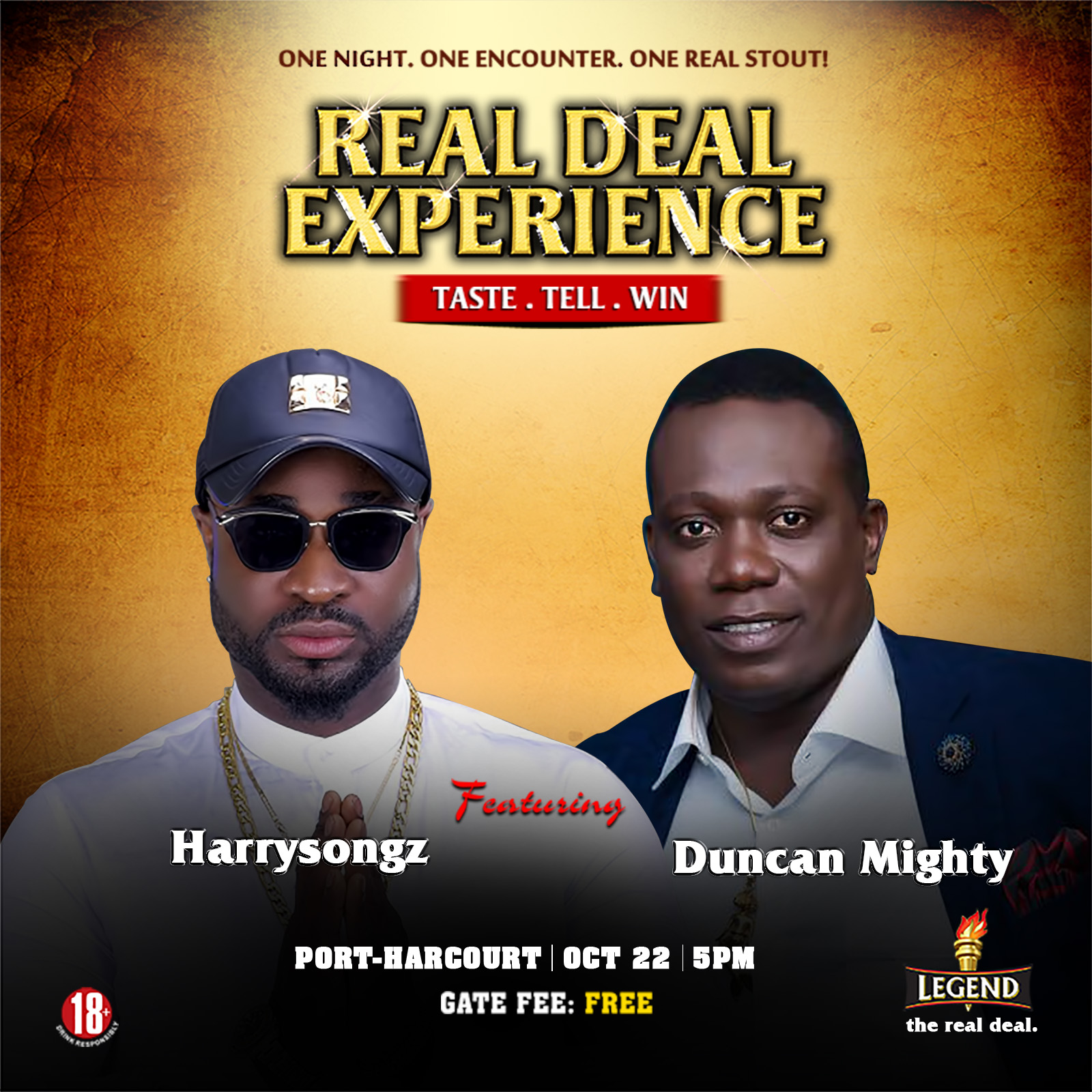REAL DEAL EXPERIENCE - OLORISUPERGAL