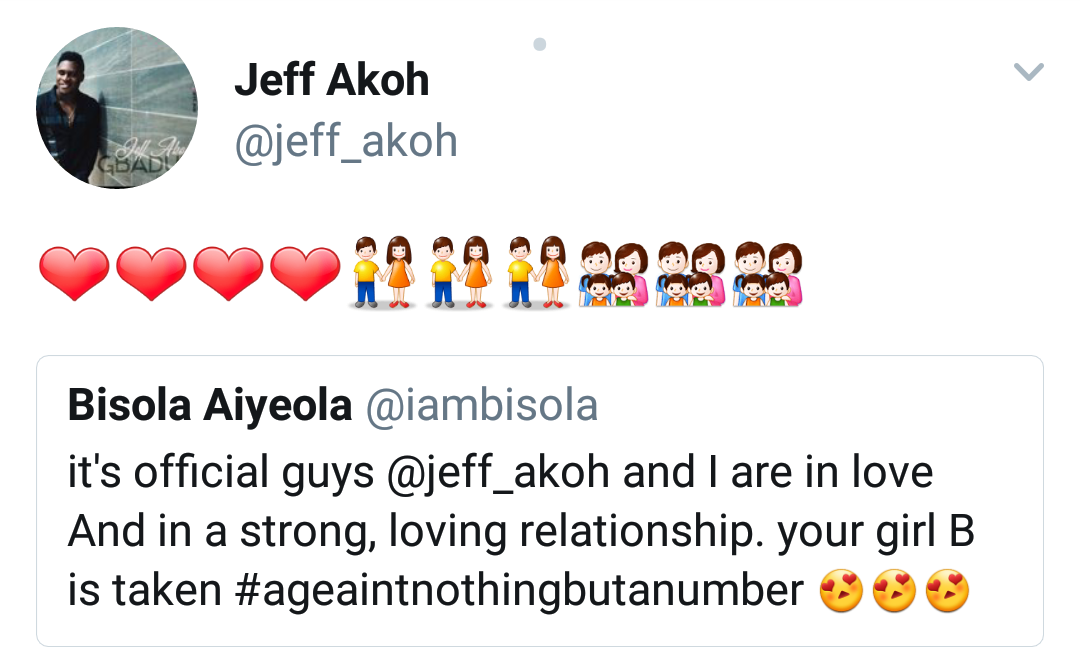 Jeff Akoh reply to bisola tweet - olorisupergal