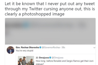 OKOROCHA AND OMOJUWA TWEET - OLORISUPERGAL
