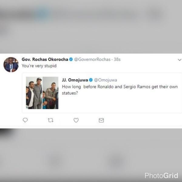 Okorocha reply to omojuwa tweet - OLORISUPERGAL