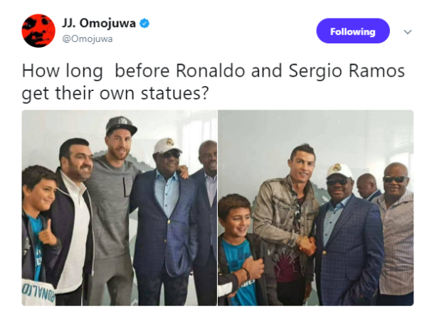 Omojuwa tweet to governor okorochas - OLORISUPERGAL