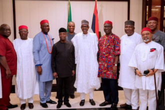 President Buhari with South East Leaders - OLORISUPERGAL