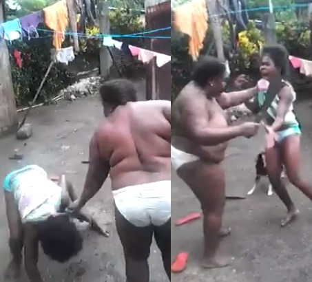 Watch This Video Of A Mother Beating Her Daughter With Machete