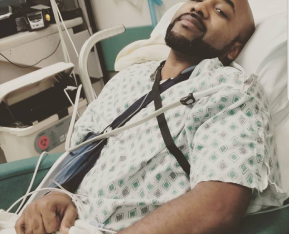 Banky W on sick bed