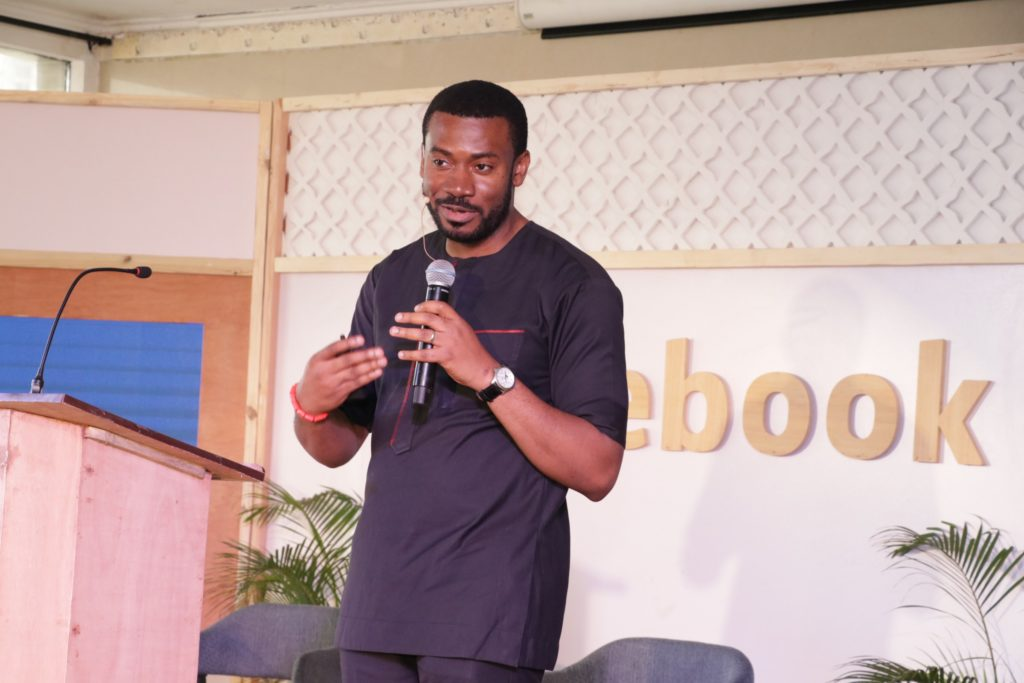 Emeka Afigbo, Platform Partnerships, Head of Middle East & Africa speaking at the event