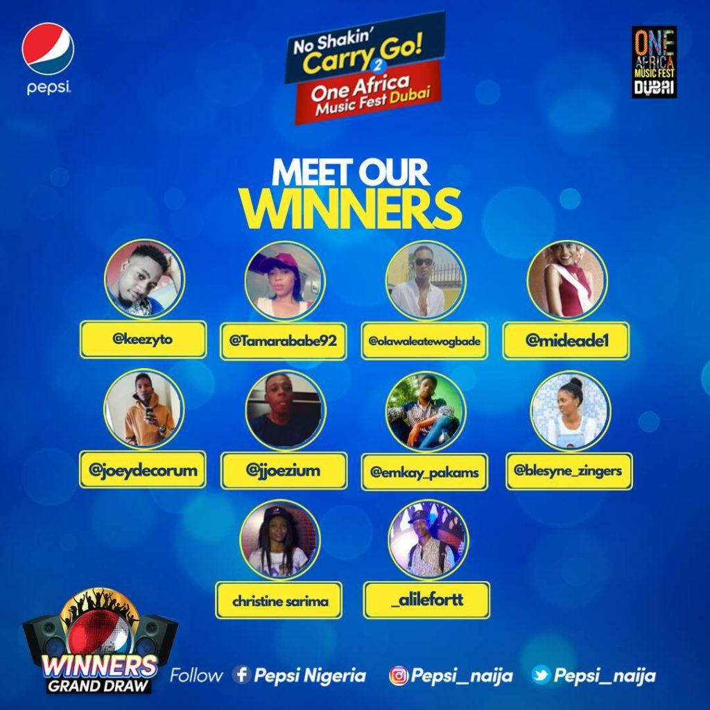 NoShakinCarryGo2Dubai 10 winners
