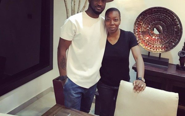 Peter Okoye and his new manager - OLORISUPERGAL