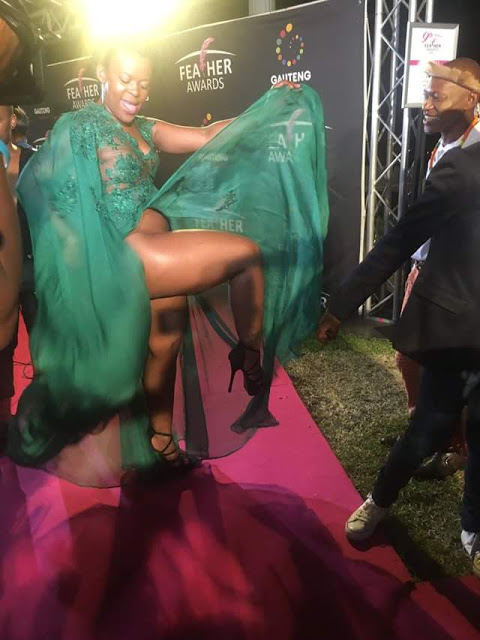 Sa Socialite Zodwa Wabantu Flashes Are Private Part On The Red Carpet -7625