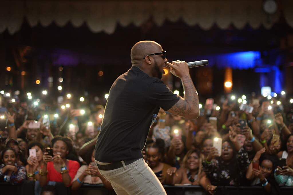 Davido on stage