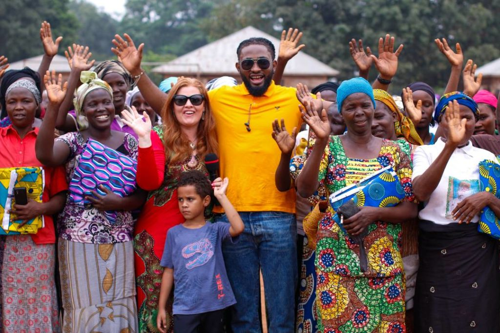 Uti Leads the Stars 2017 Charity Visit to the IDP Camp