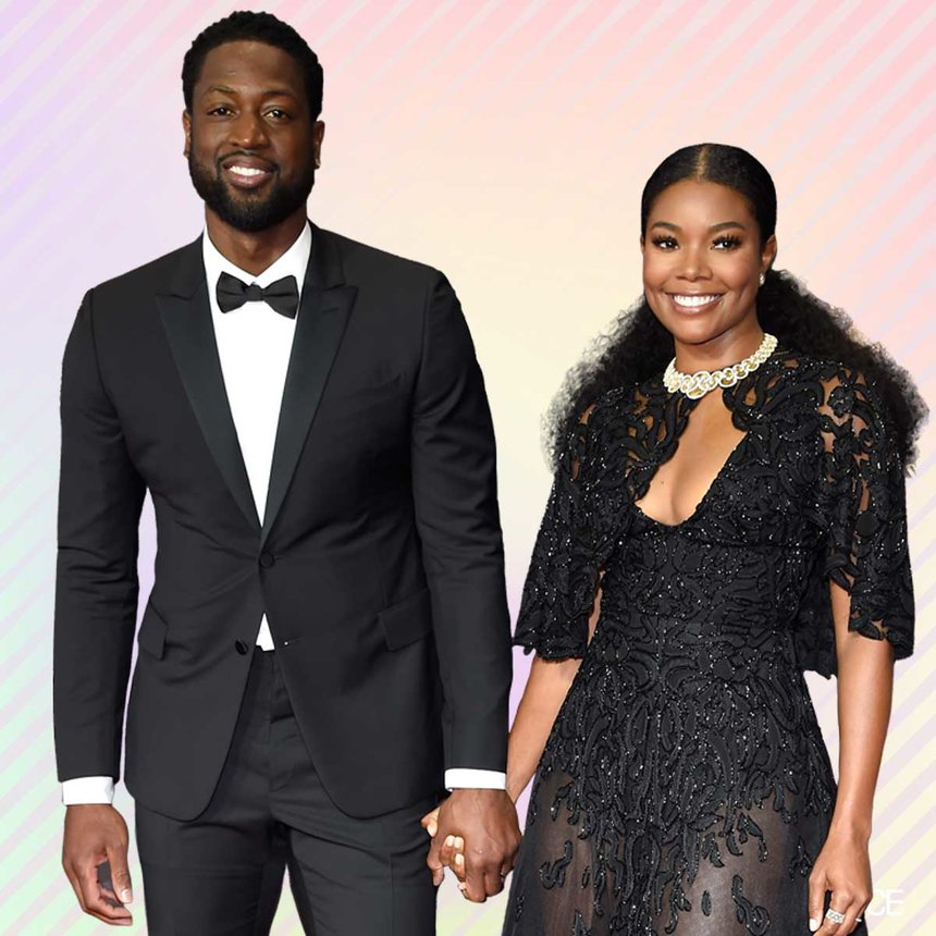 AMERICAN ACTRESS GABRIELLE UNION AND HUSBAND OBSERVE