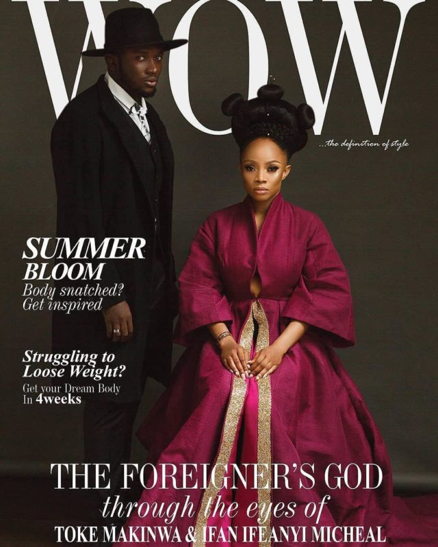 Where To Buy Fur Rug In Lagos: Toke Makinwa Stuns On The Cover Of WOW Magazine, July