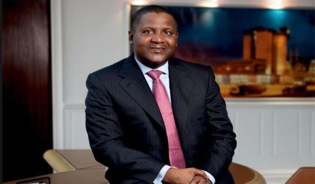 Dangote named as top charitable person