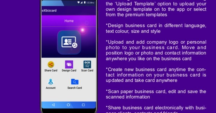 Exbizcard App An Electronic Way To Design Share And Scan Business
