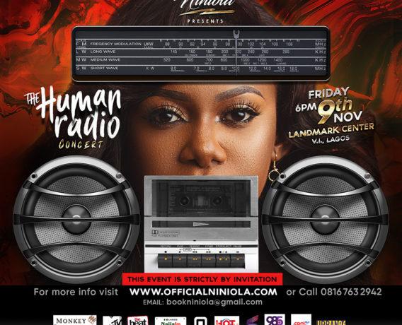 Niniola Presents The Human Radio Concert - IG Flyer - Designed by Edesiri Ukiri - Graphixed