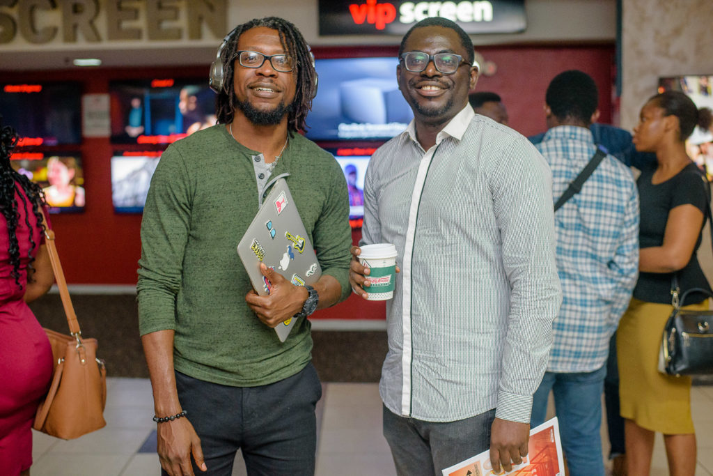 Niyi Akinmolayan, Mildred Okwo & Colette Otusheso grace the premiere of the Accelerate Filmmaker Project at AFRIFF 2018