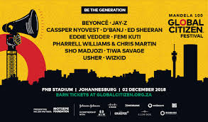 Beyonce, Jay-Z,Wizkid,Femi Kuti,Tiwa Savage and others to be in South AFrica for The Global Citizen Festival: Mandela 100