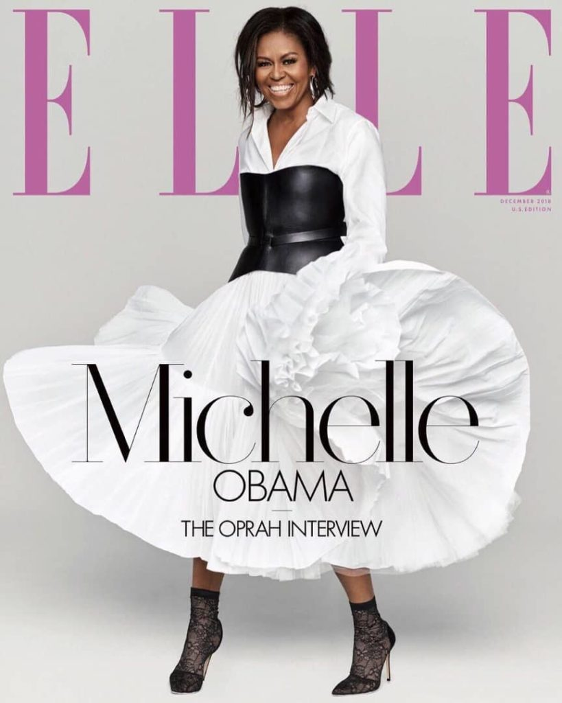 Michelle Obama on the cover of ELLE USA cover