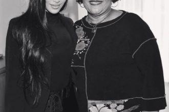 Kim Kardashian and Ms. Alice Marie Johnson at Thanksgiving.