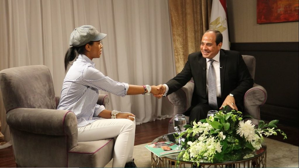 Zurile Meets Preisdent El Sisi on Set