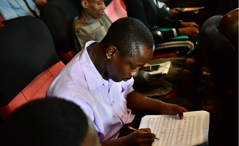 A MUSON scholar during the masterclass